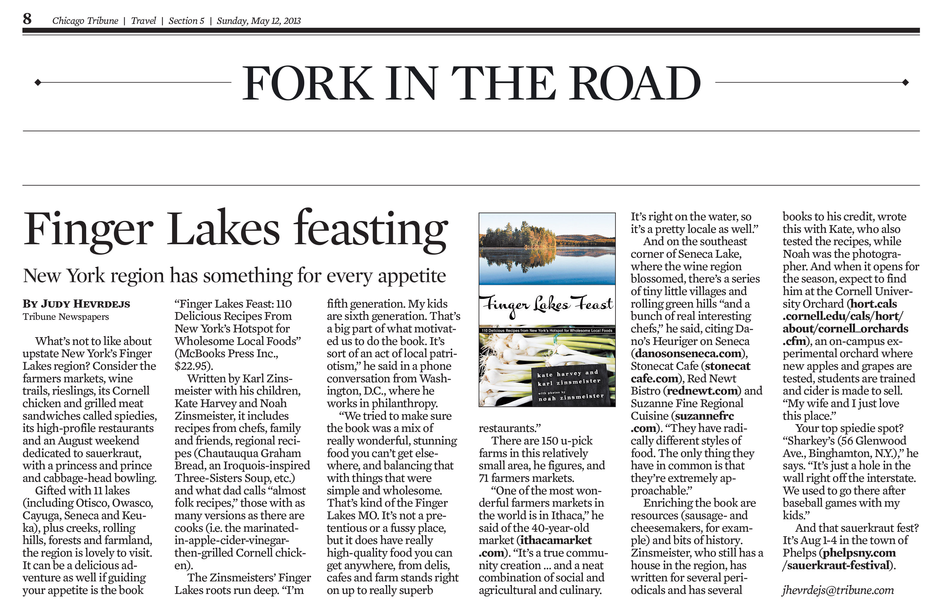 722F Finger Lakes Feast 110 Delicious Recipes From New York ... on